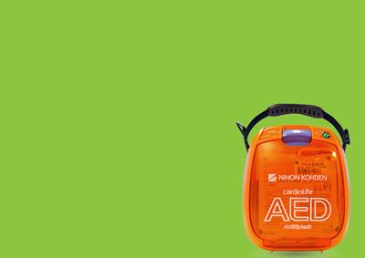 background green defibrillatore